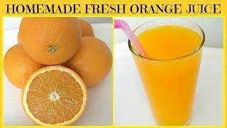 Homemade Freshly Squeezed Orange Juice