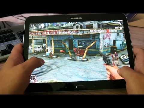 Работа игры Contract Killer Zombies на планшете Samsung Galaxy Tab 3 10.1