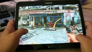 Работа игры Contract Killer Zombies на планшете Samsung Galaxy Tab 3 10.1