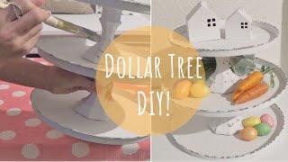 DIY Dollar Tree 3 Tier Tray