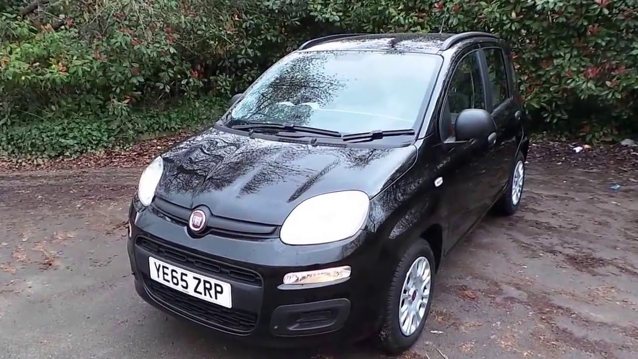 2016 65 fiat panda 1 2 easy 5dr in black youtube. Black Bedroom Furniture Sets. Home Design Ideas