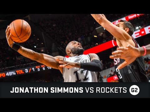 Jonathon Simmons Highlights: 14 PTS, 1 AST, 1 Dunk vs Rockets Semifinals Game 2 (03.05.2017)