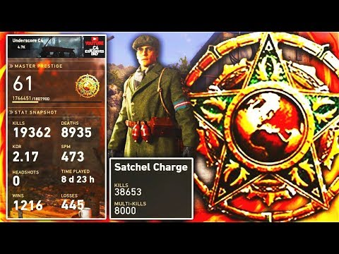 the SCARIEST PLAYER EVER on COD WW2.. 😱 (WORLDS FIRST EXPLOSIVES ONLY MASTER PRESTIGE)