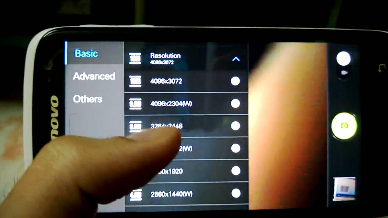 how to change lenovo camera settings