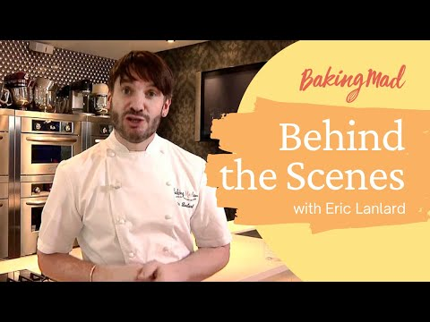 Behind the scenes of Baking Mad with Eric Lanlard at Cake-Boy