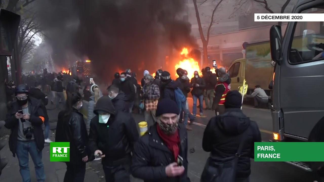 Violences A Paris Et En Regions Lors De La Manifestation Contre La Loi Securite Globale Rt En Francais