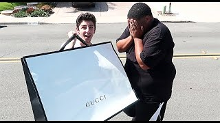 SHOCKING MY BEST FRIEND WITH $5,000 OF GUCCI!! **EMOTIONAL** | Vlogs | FaZe Rug