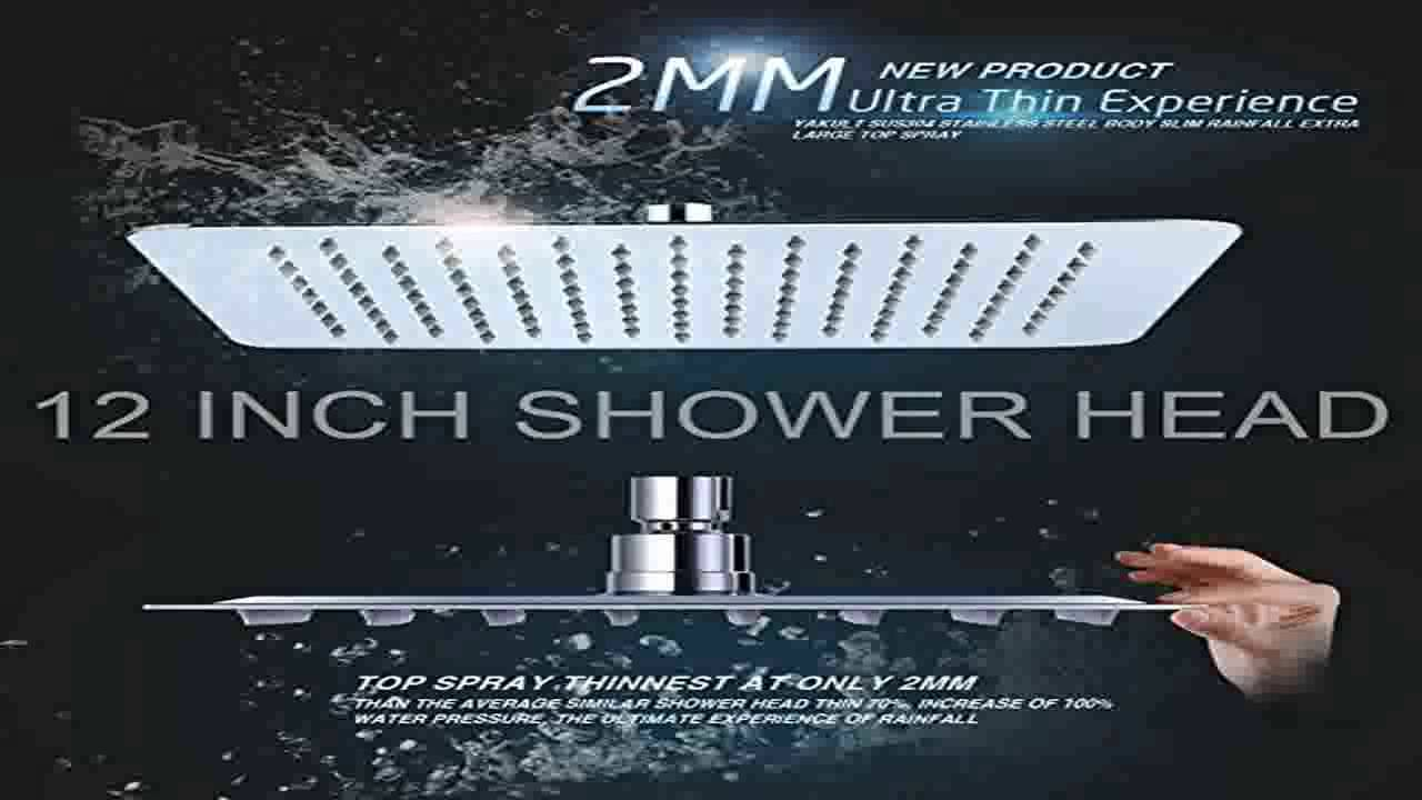 SR SUN RISE Luxury 12 Inch Large Square Stainless Steel Shower ...