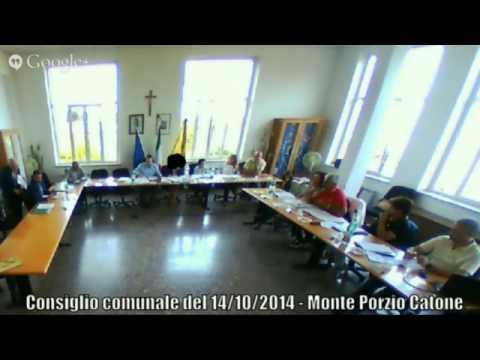 Consiglio comunale del 14/10/2014 - Monte Porzio Catone