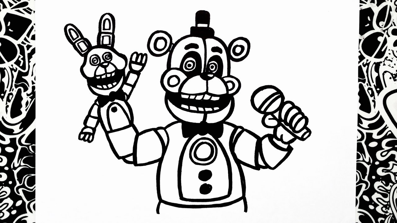 Como dibujar a funtime freddy how to draw funtime freddy for Freddy coloring pages