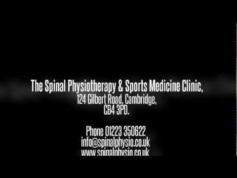 Spinal Physio Cambridge 01223 350622 for appointments