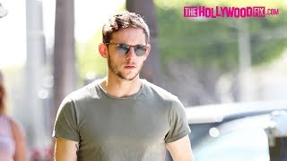 Jamie Bell Goes Shopping Without His Fiance Kate Mara On Melrose Ave. 7.14.17