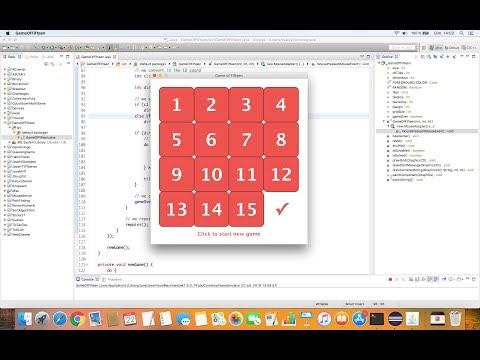 Developing A 15 Puzzle - Game Of Fifteen In Java 8 With Eclipse