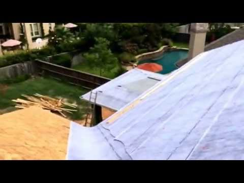Installing the Boral GatorSeal HT paper before tile roof ...