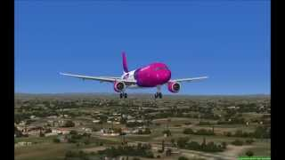 FSX HD WizzAir Airbus A320 Budapest to Rome LIRF