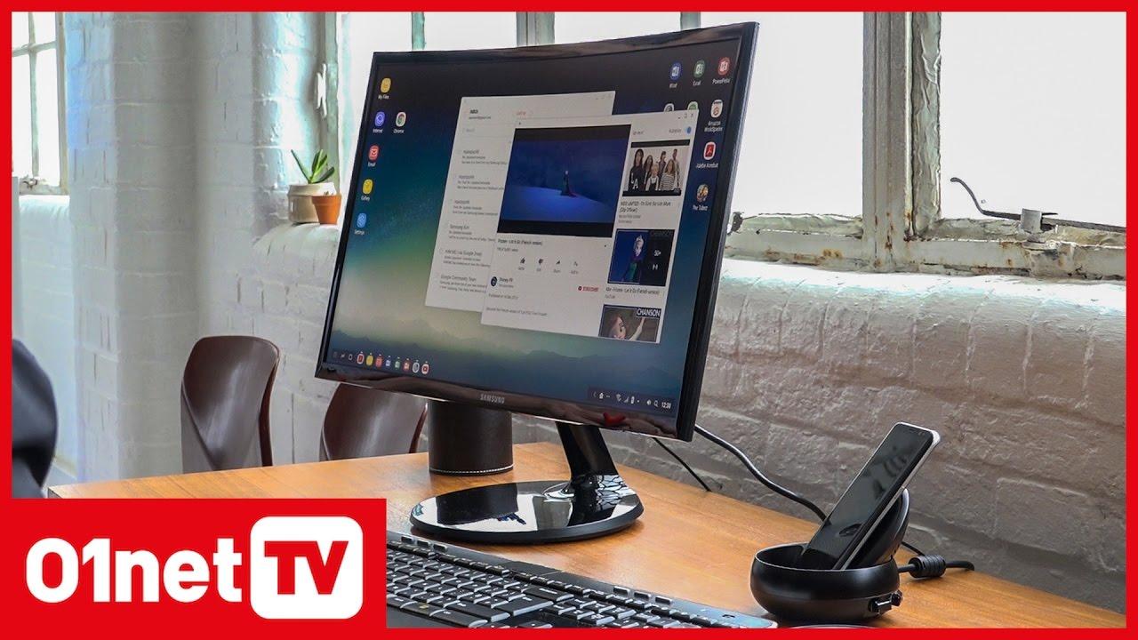 Samsung DeX transforme votre Galaxy S8 en PC de bureau YouTube