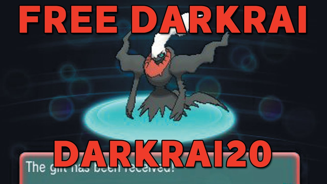 FREE Mystery Gift Darkrai RETURNS! Darkrai20 Expires on Halloween - NO  GAMESTOP  Pokemon X/Y ORAS