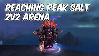 Reaching Peak Salt Levels - Enhancement Shaman 2v2 Arena - WoW BFA 8.3