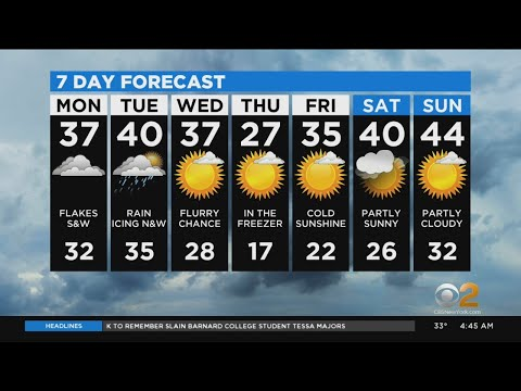 New York Weather: 12/16 Monday Morning Forecast