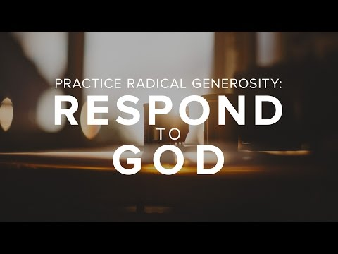 Radical Love - Respond to God - Bong Saquing