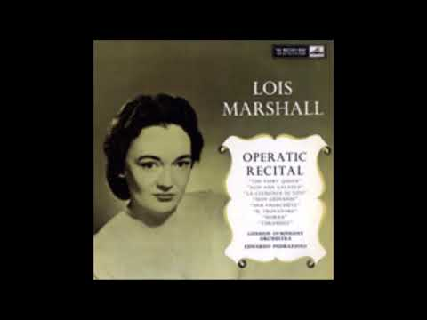 LOIS MARSHALL OPERATIC RECITAL