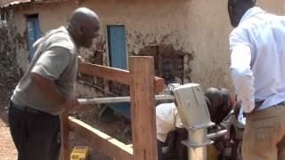 Kids enjoying clean drinking water Kagorogoro, Uganda