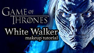 white walker game of thrones halloween makeup tutorial
