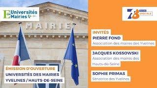 7/8 Edition Spéciale. Ouverture des Universités des Mairies Yvelines / Hauts-de-Seine