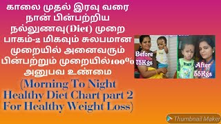 Diet Chart In Tamil//Weight Loss Diet Chart In Tamil//Full Day Diet Chart Part 2