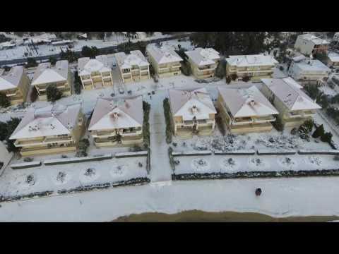 Aerial winter in Greece
