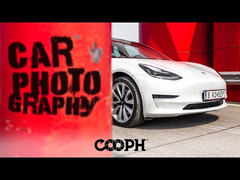 Car photography with a Tesla Model 3