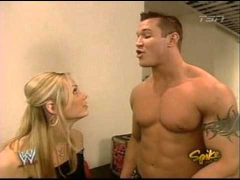 2005 01 31 RAW   Stacy Keibler and Randy Orton Backstage