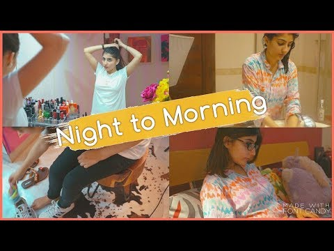 Night to Morning Routine with L'OREAL Low shampoo  | Anushae Says