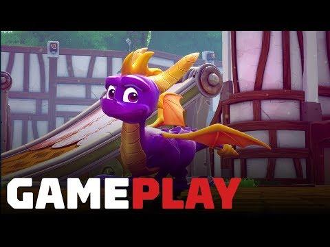 Spyro Reignited Trilogy Skateboarding Gameplay