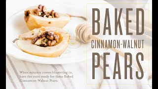 Baked Cinnamon-Walnut Pears Recipe | Young Living Essential Oils