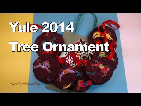 Yule Tree Ornaments Soft Fabric 2014