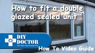 Replacing a sealed unit in a double glazed window