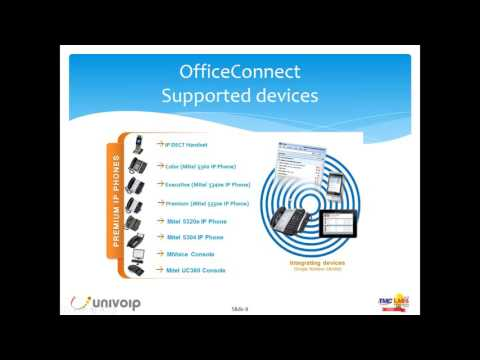 UniVoIP OfficeConnect Cloud PBX Demo - End-to-end dedicated service. Secure and managed