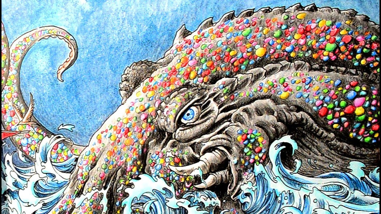 Coloring a Page from Colormorphia by Kerby Rosanes #1