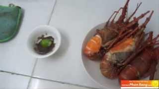 Tôm hùm hấp bia - Đặc sản Phan Rang