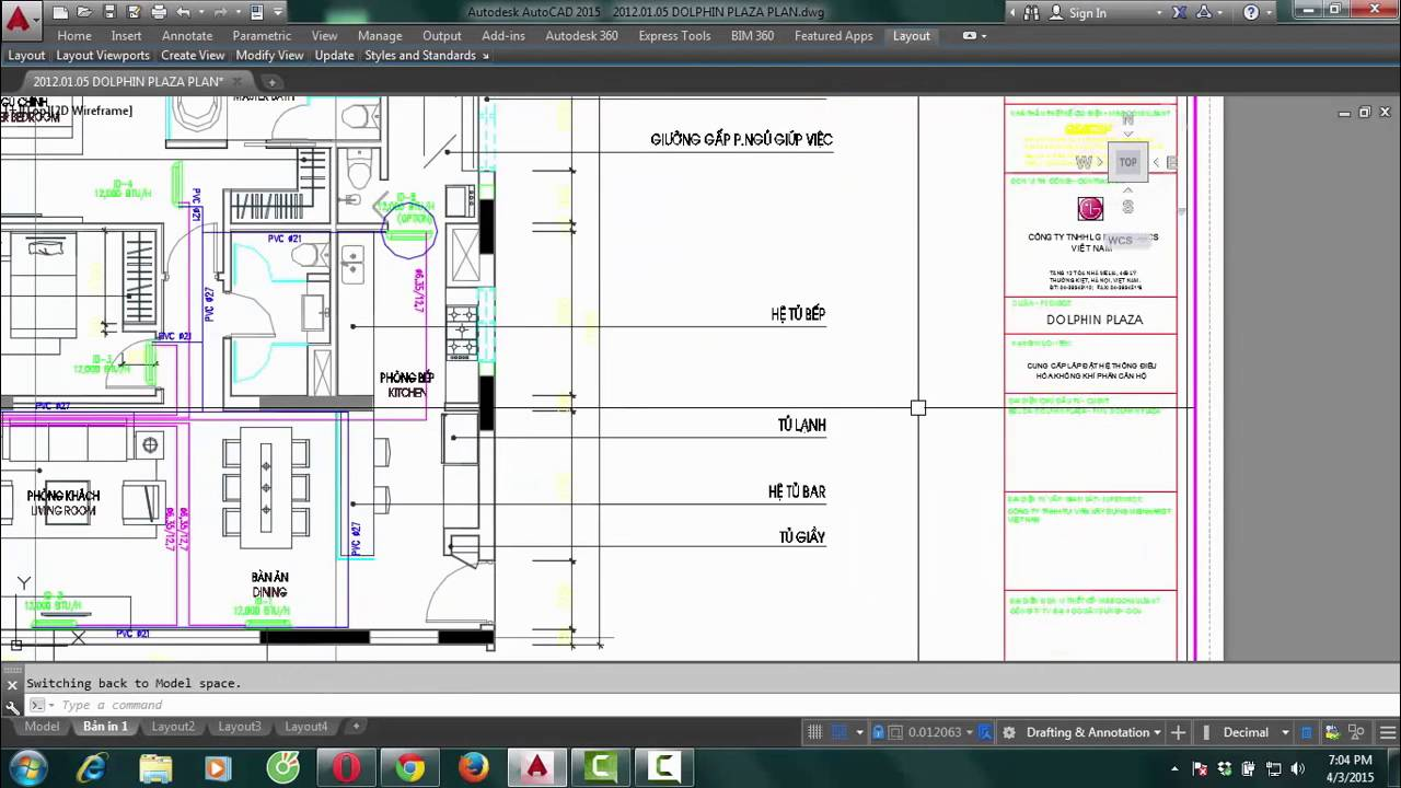 how to create a layout in autocad 2015