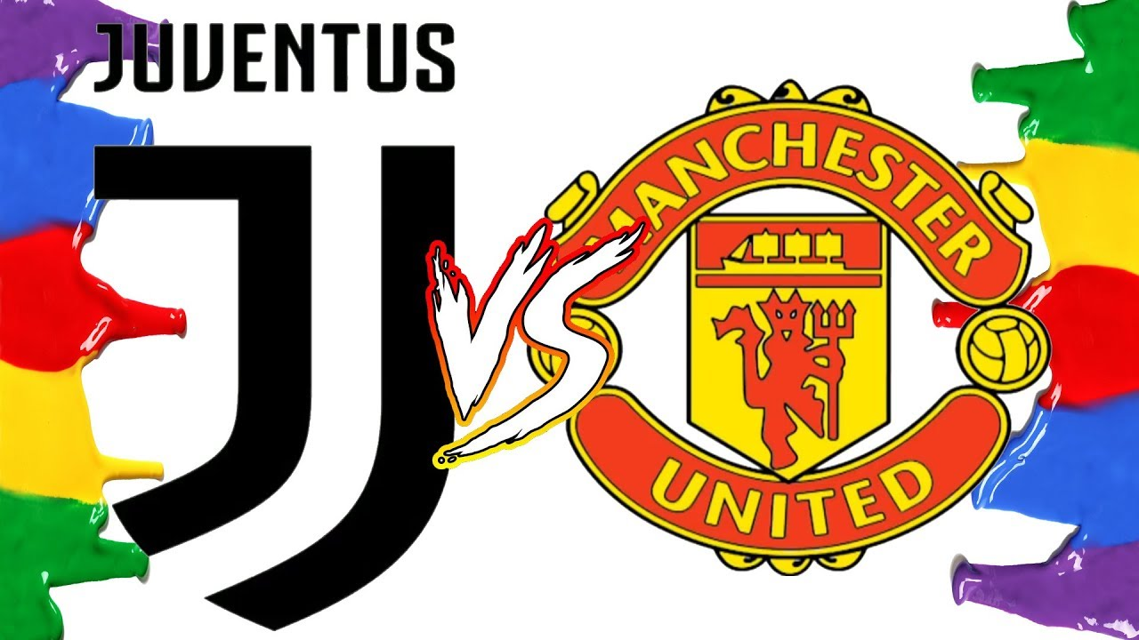 How To Draw And Color Juventus Vs Manchester United Champions League Logos Coloring Pages Youtube