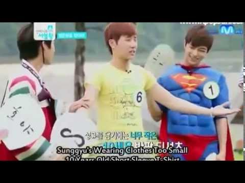 INFINITE FUNNY MOMENT #44 - SUNGGYU WEARING CHILD'S CLOTHES