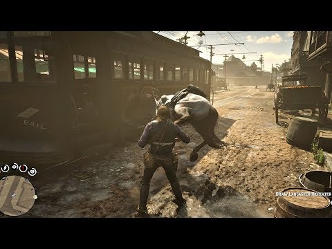 Red Dead Redemption 2 - What Happens When You Punch Your Horse (Or Slap Its Butt)