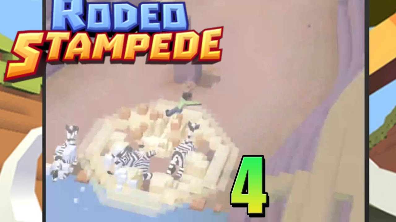 Rodeo Stampede Zebra Wipeout Gameplay Commentary 4