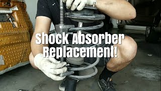 Rear Shock Absorber Replacement On A 1991-1996 Infiniti G20!