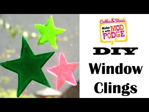 DIY Star Window Clings