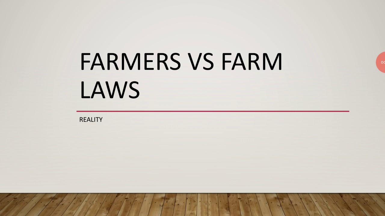 Farmers vs farm laws