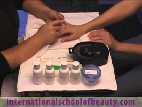 One Hand Manicure State Board Preparation Manicure Youtube