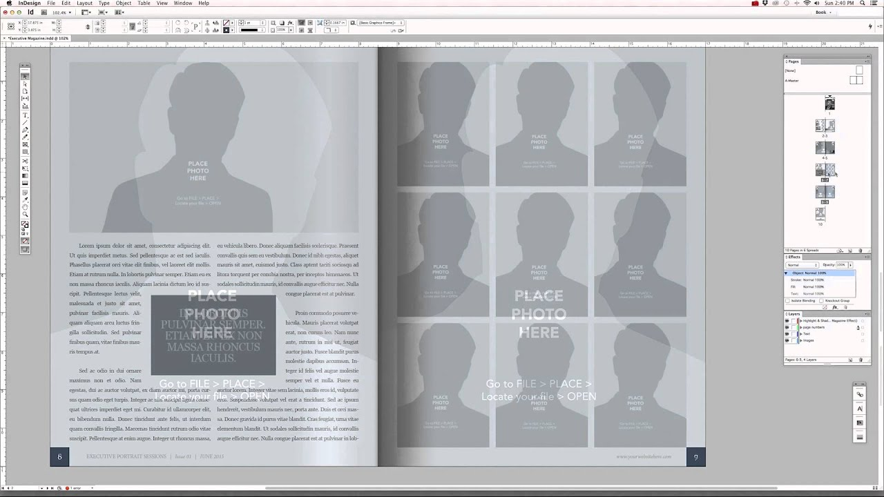 Editing the InDesign Magazine Templates - Tutorial #5 - YouTube